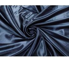 Атлас ш.1,5м.  темно-синий однотонный