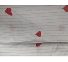 """Миткаль ш.2,2м.""""Сердца, полоса"""" 20657"""
