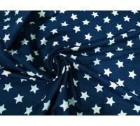 Джинса ш.1,35м. стрейч голубые звезды на синем
