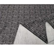 Ткань костюмная ш.1,5м.черно-белый меланж
