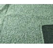 Пальтовый лоскут, черно-серо-зеленое букле