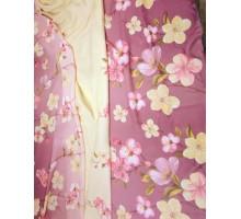 """Ткань портьерная в.2,8м.""""Цветы"""" на розовом Y19083-7"""