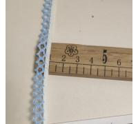 Кружево ш.1см вязанное бело-голубое В096