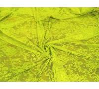 """Гипюр ш.1,5 м. салатовый """"Крупные цветы"""""""