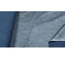 Тк.джинсовая ш.1,4м. синий меланж на флисе 86-16