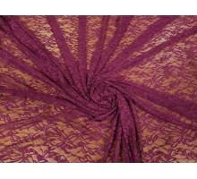 """Гипюр ш.1,5 м. фиолетовый """"Цветы"""" стрейч"""